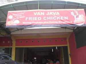 restoran waralaba franchise fried chicken murah van java
